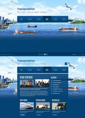 Transportation Paralax HTML5 template ID: 300111756
