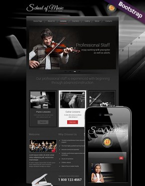 Music School Bootstrap template ID: 300111757