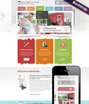 House Painting Bootstrap template ID: 300111758