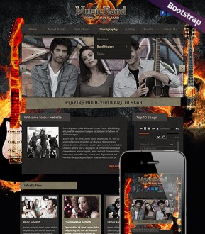 Music Band Bootstrap template ID: 300111765