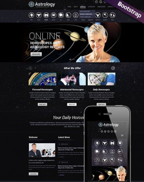 Astrology Bootstrap template ID: 300111766