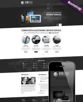 PC repair service Bootstrap template ID: 300111772
