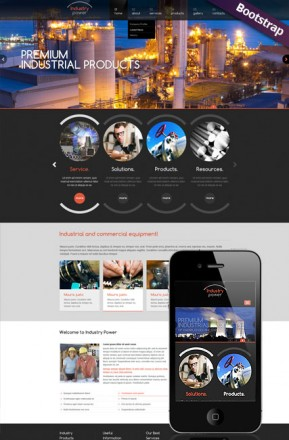 Industry Power Bootstrap template ID: 300111773