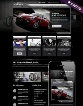 Car Repair Service Bootstrap template ID: 300111774