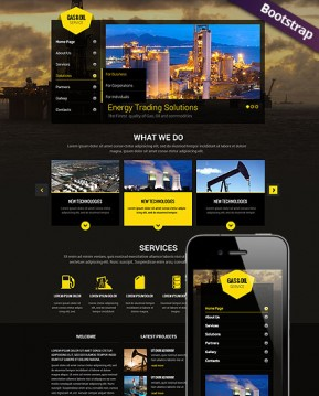 Gas and Oil Bootstrap template ID: 300111775