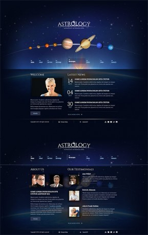 Astrology HTML5 template ID: 300111819