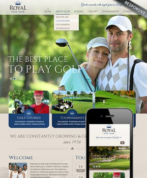 Golf club Bootstrap template ID: 300111820