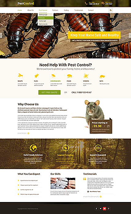 Pest control Bootstrap template ID: 300111841