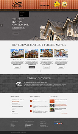 Roofing Wordpress template ID: 300111853