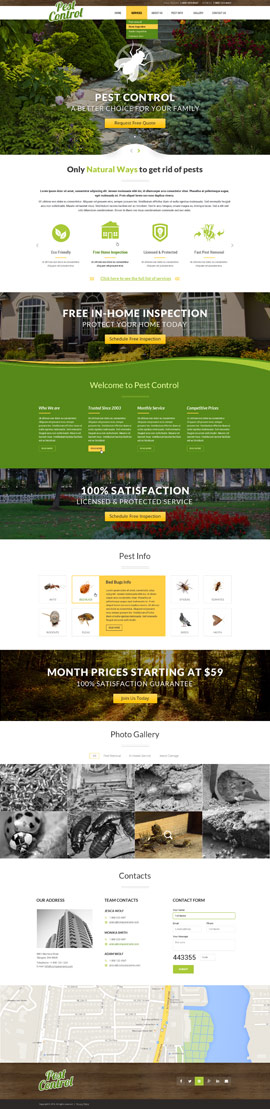 Pest control Bootstrap template ID: 300111861