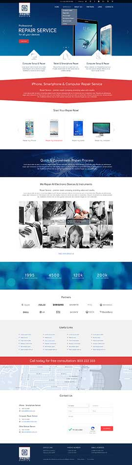 Repair service Bootstrap template ID: 300111899