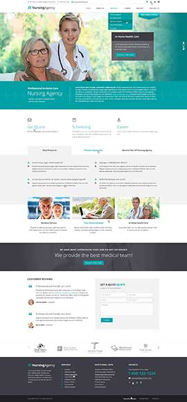 Nursing care Bootstrap template ID: 300111908