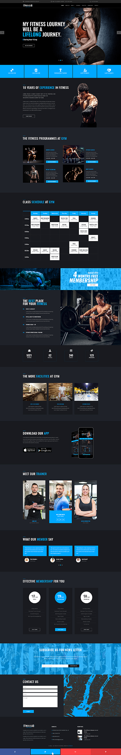 Fitness club Bootstrap template ID: 300111931
